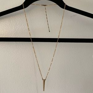 UO Gold Pendant Necklace